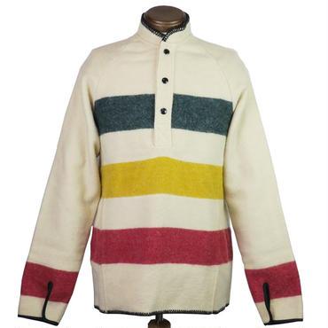 '70s vintage WOOLRICH(ウールリッチ ) ボーダーブランケットプルオーバー