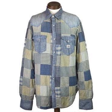 DENIM & SUPPLY(デニムアンドサプライ) USED加工パッチワークデニムシャツ