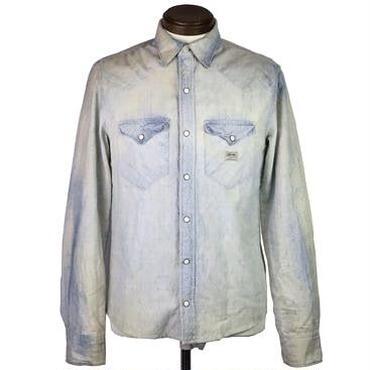 DENIM & SUPPLY(デニムアンドサプライ) ブリーチ加工デニムシャツ