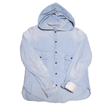 KAPITAL(キャピタル) ユーズド加工シャンブレーシャツ