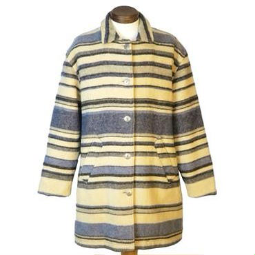 vintage WOOLRICH(ウールリッチ ) マルチボーダーウールブランケットコート