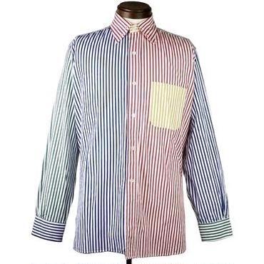 Needles(ニードルス) マルチストライプアシンメトリーシャツ