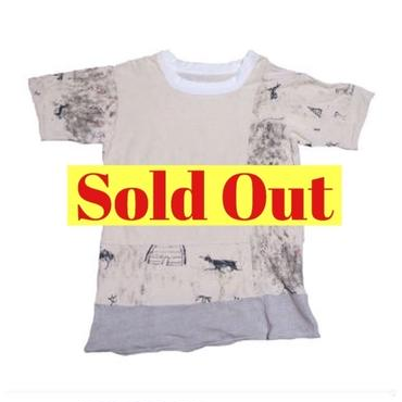 KAPITAL(キャピタル) 壁画柄Tシャツ