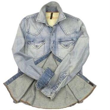 Nudie Jeans(ヌーディージーンズ) ユーズド加工デニムシャツ