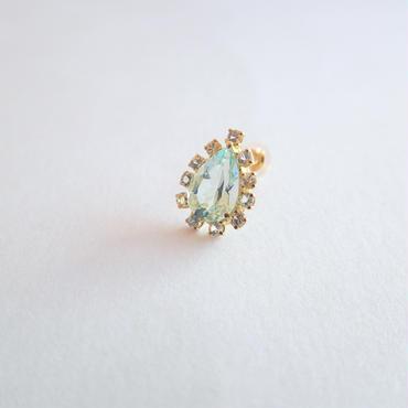 Sparkle earrings studs(グリーンベリル・ペアシェイプ)