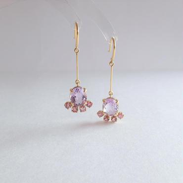 leap earrings(ライトアメジスト)