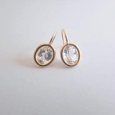 Light drop earrings(ホワイトトパーズ)