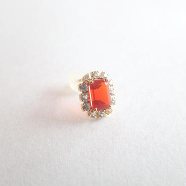 Sparkle earrings studs(ファイヤーオパール・スクエア)