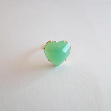 Heart Ring(クリソプレーズ)