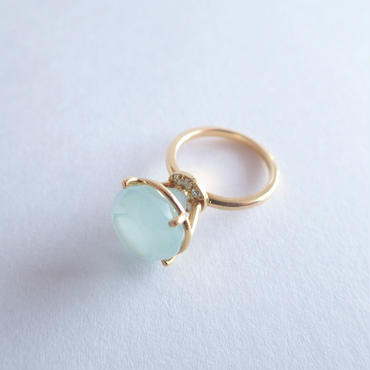 Jewel Ring  L (ミルキーアクアマリン)