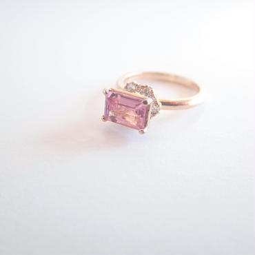 grace ring square(ピンクトルマリン)