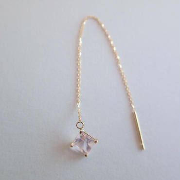 amulet earring (ローズクォーツ)