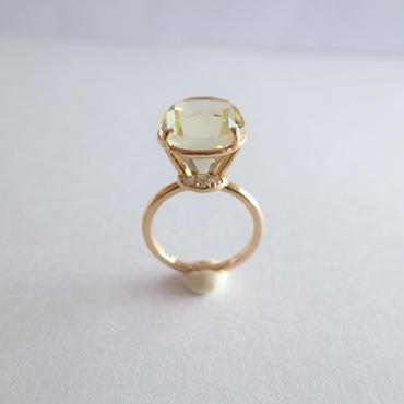 Jewel Ring  L (レモンクォーツ)