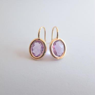 Light drop earrings(ライトアメジスト)