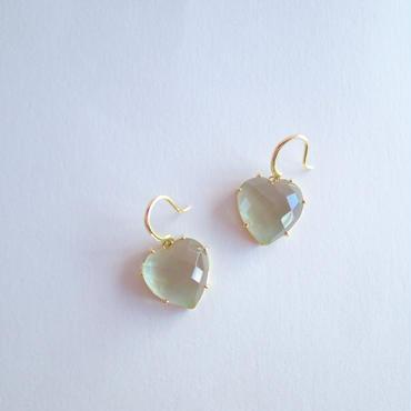 Heart Earrings(グリーンクォーツ)