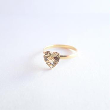 amulet ring(ハート/レモンクォーツ)