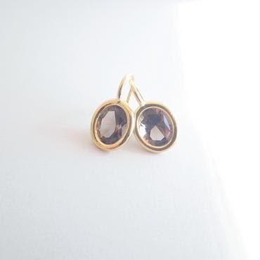 Light drop earrings(スモーキークォーツ)