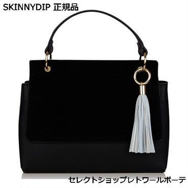 SKINNYDIP スキニーディップ タッセル バッグ レディース 黒 ショルダー 小さめ ショルダーバッグ 斜めがけ PU 海外 ブランド