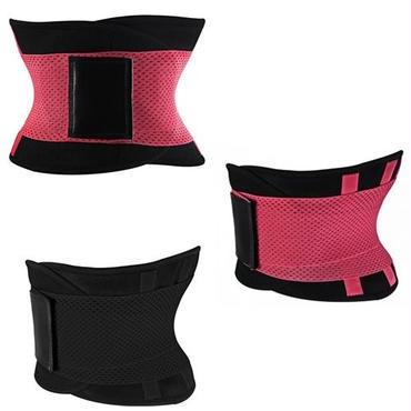 フィットネスベルト ホットシェイパー ダブルゴムで締め付けられるウエストベルト 着用時の姿勢矯正や腰サポートに
