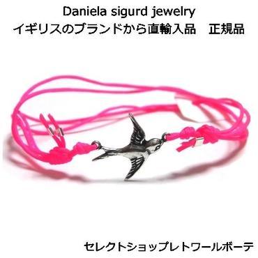 daniela sigurd jewelry ダニエラ シグルド ジュエリー ブレスレット ネオンピンク シルバー スワロー つばめ グッズ 軽い 燕