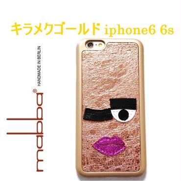 mabba マッバ ドイツ の ツインクル Mrs Twinkle iPhone 6 Hulle アイフォン シックス エス カバー 本革 レザー ケース ゴールド 海外 ブランド