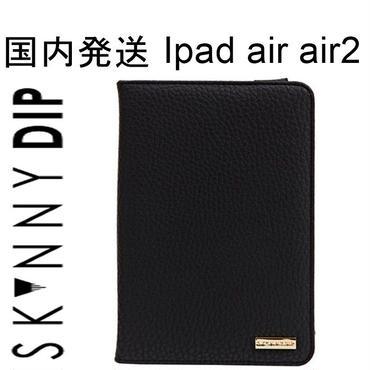 skinnydip スキニーディップ ロンドン ラグジュアリー ipadケース ipad air air2 2つ折り カバー アイパッド エアー ブラック ケース オシャレ 海外 ブランド