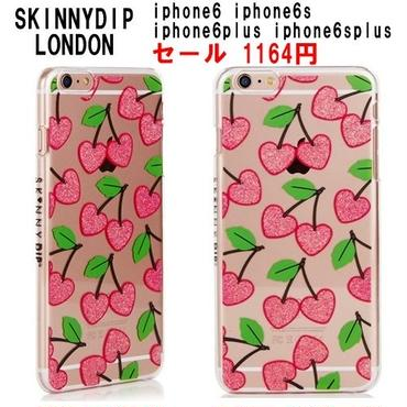 skinnydip サクランボ柄のiphoneケース iphone6 iphone6s iphone6plus iphone6splus チェリー柄