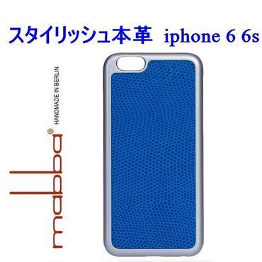 mabba マッバ ドイツ の スタイリッシュ ブルー Der Blaubluter iPhone 6 Hulle grey アイフォン シックス エス カバー 本革 レザー ケース 海外 ブランド