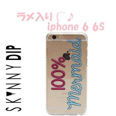skinnydip スキニーディップ ロンドン ラメ入り IPHONE 6 6s 100% MERMAID CASE アイフォン シックス エス ケース お洒落なケース 超人気 セール 海外 ブランド
