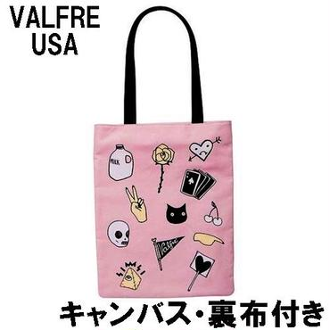 Valfre ヴァルフェー トートバッグ PEACE OUT TOTE BAG キャンバス 厚手 A4 トートバック レディース エコバッグ