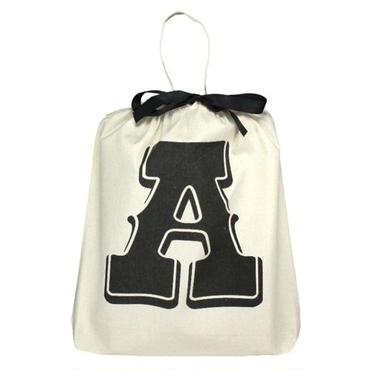 Bag all イニシャルバッグ 頭文字 A エー 布製 折りたたみ エコバッグ 軽量 生成り バック レディース メンズ 男女兼用 ブランド
