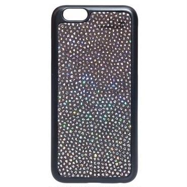 アウトレット mabba iphone6sケース iphone6ケース 本革 レザーカバー ラメ キラキラ ブラックカラー スマホ