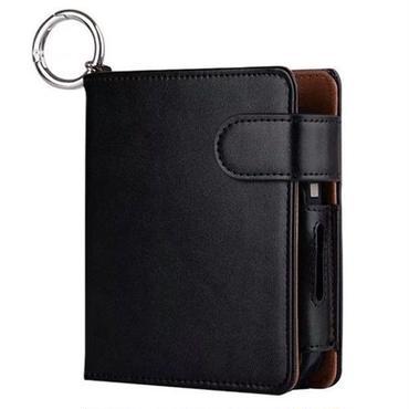 アイコスケース iqos2.4 plus 2.4プラス 対応 カード入れ 手帳型 カバー ブラック 黒 PU 無地 おしゃれ かっこいい メンズ