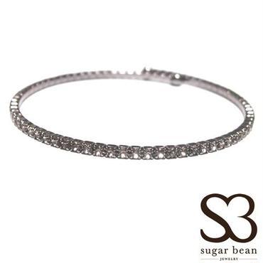 Sugar Bean Jewelry シュガービーンジュエリー アメリカ の シングル クリスタル バングル single bangle black smork スモーク メッキ セール 海外