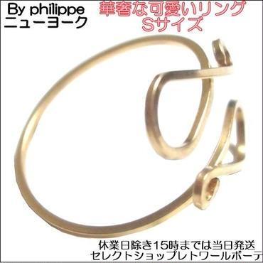 byphilippe ニューヨークデザイナーのおしゃれな指輪 細身で華奢なリング ゴールド Sサイズ 上品