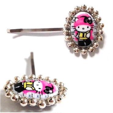 TARINATARANTINO タリナタランティーノ ロサンゼルス キティ ヘアアクセサリー PINK HEAD BRIDE BOBBY キティちゃん ヘアピン イエロー 髪留め 海外 ブランド
