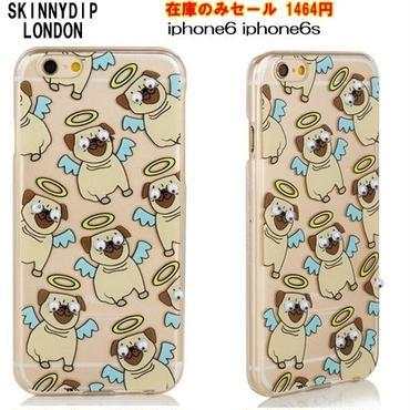 skinnydip セールでお値下げ 可愛いパグ柄のiphone6ケース iphone6sケース 目玉飛び出た犬柄アイフォンカバー