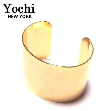 Yochi NEW YORK ヨキ ニューヨーク カフ wide dome cuff gold バングル ゴールド ワイド ブレスレット レディース シンプル ブランド