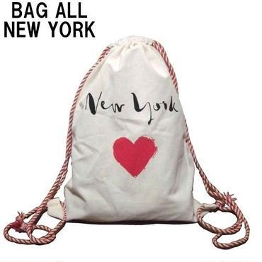 Bag all リュック リュックサック シンプル おしゃれ NEW YORK HEART