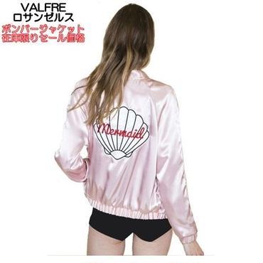 在庫限りセール Valfre ロサンゼルスの可愛いジャケット お洒落なボンバージャケット 貝殻刺繍の女性用アウター