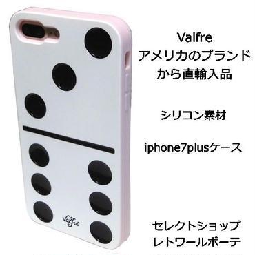Valfre ヴァルフェー ドミノ牌 型 DOMINO 3D IPHONE 7 PLUS シリコン アイフォン ケース 白 ソフト 賽の目 海外