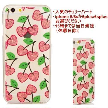 skinnydip スキニーディップ IPHONE CHERRY HEART CASE iphone6 iphone6s iphone6plus iphone6splu 液晶保護フィルム 付き