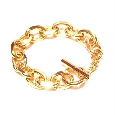 Yochi NEW YORK チェーンブレスレット 鎖 ゴールド メンズ レディース 鎖編み ゴツゴツ ゴツめ ごつい かっこいい
