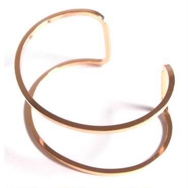 Yochi NEW YORK ヨキ ニューヨーク カフ Wire Open Cuff rose バングル ローズゴールド 幅広 レディース おしゃれ ブランド