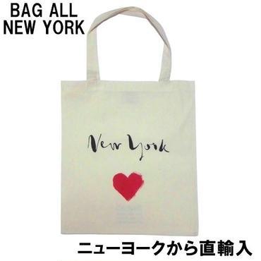 Bag all バッグオール トートバッグ NEW YORK HEART TOTE BAG ニューヨークハート エコバッグ コットン ブランド