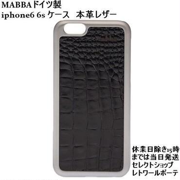 mabba ドイツ製のお洒落なiphone6ケース iphone6sケース クロコダイル型押し本革 レザーのiphoneケース 保護フィルム付き