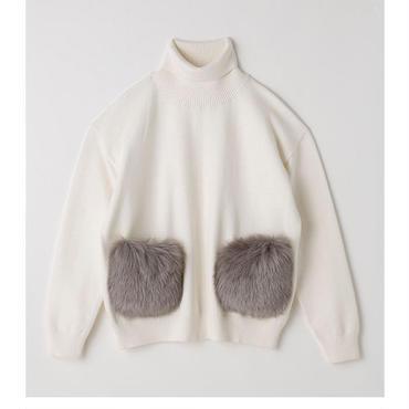 fur pocket  knit