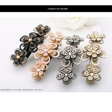 flower triple barrette