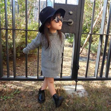 【kids】残り90㎝のみ!フリンジニットワンピース