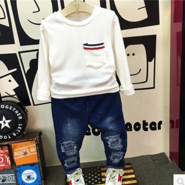 【kids】トリコロールポイントトップス